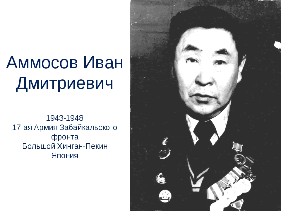 Аммосов Иван Дмитриевич 1943-1948 17-ая Армия Забайкальского фронта Большой Х...