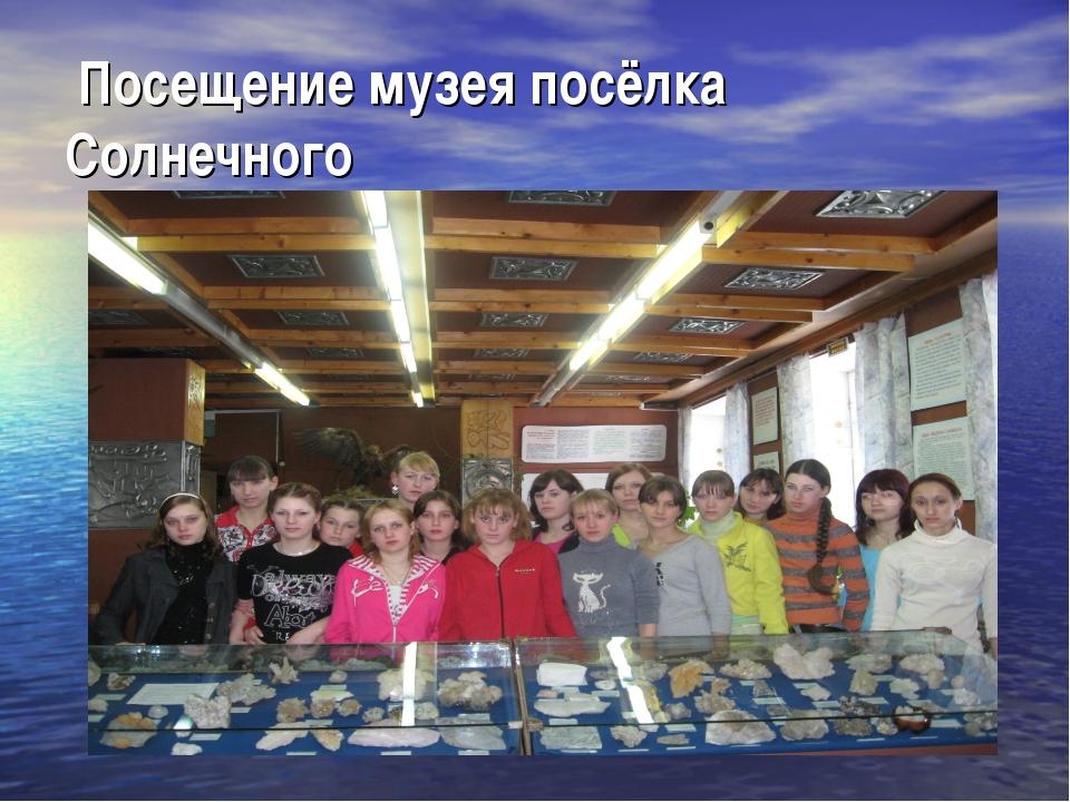 Посещение музея посёлка Солнечного