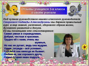 Под чутким руководством нашего классного руководителя Смирновой Надежды Алекс