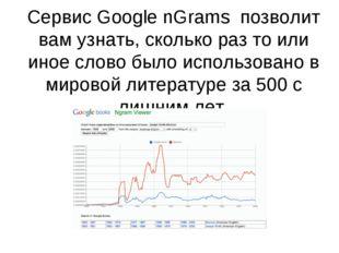 Сервис Google nGrams позволит вам узнать, сколько раз то или иное слово было