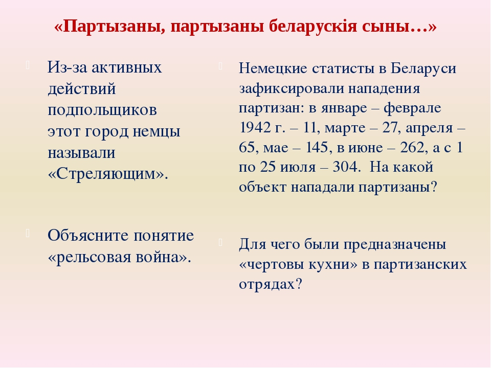 «Партызаны, партызаны беларускія сыны…» Из-за активных действий подпольщиков...