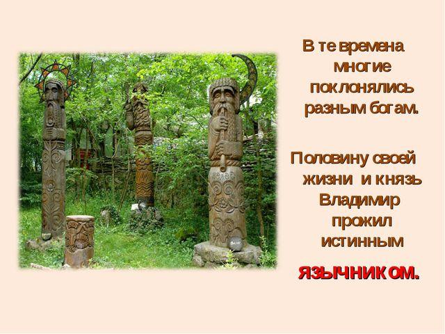 В те времена многие поклонялись разным богам. Половину своей жизни и князь Вл...