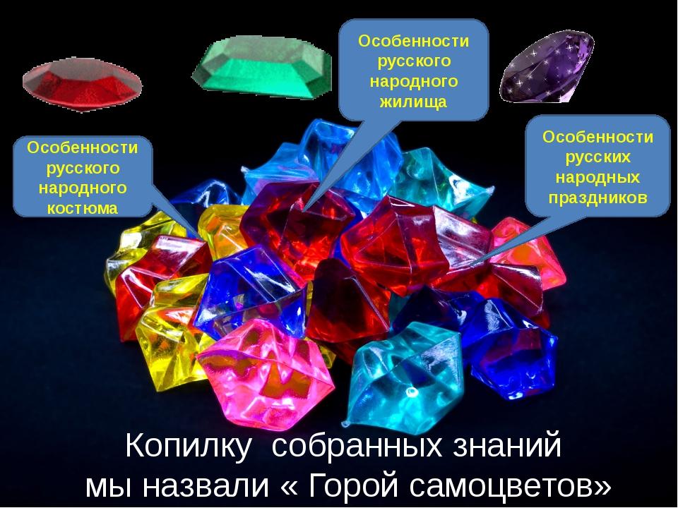 Копилку собранных знаний мы назвали « Горой самоцветов» Особенности русского...