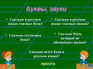 Буквы, звуки Сколько в русском языке гласных букв? Сколько в русском языке гл