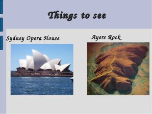 Things to see Sydney Opera House Ayers Rock