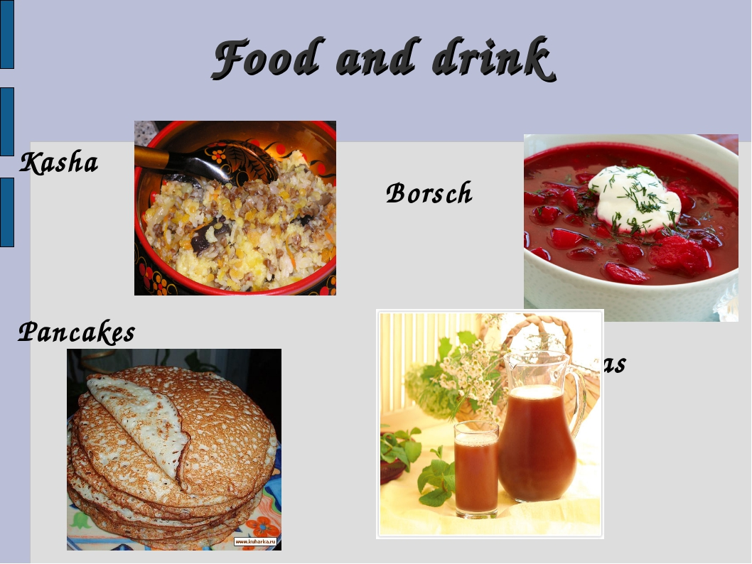 Food and drink Kasha Pancakes Borsch Kvas