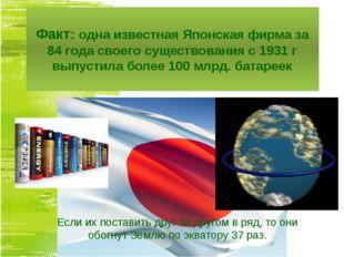 Факт: одна известная Японская фирма за 84 года своего существования с 1931 г