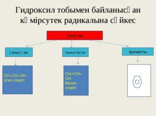 Гидроксил тобымен байланысқан көмірсутек радикалына сәйкес Спирттер ароматты