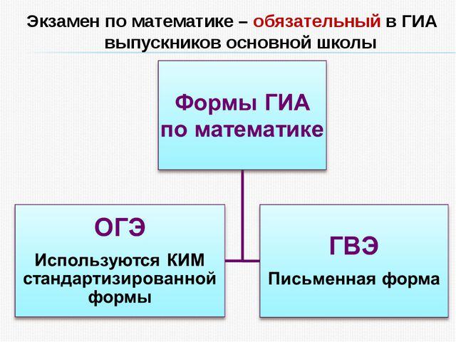 Экзамен по математике – обязательный в ГИА выпускников основной школы