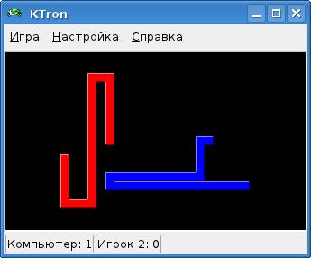 Трон - стандартная игра в Linux