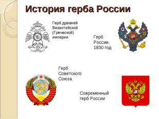 История герба России Герб древней Византийской (Греческой) империи Герб Росси