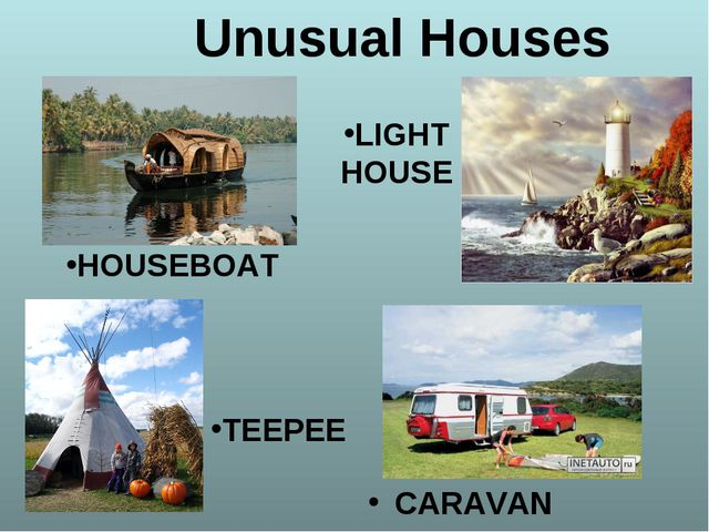 TEEPEE CARAVAN Unusual Houses TEEPEE HOUSEBOAT LIGHTHOUSE