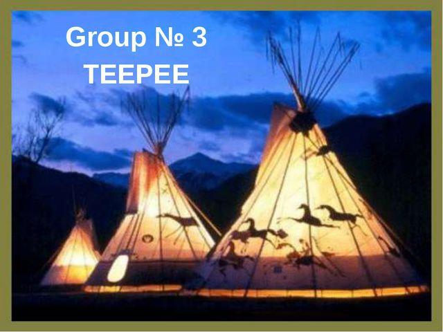 Group № 3 TEEPEE
