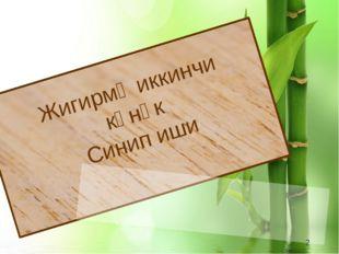 Жигирмә иккинчи көнәк Синип иши