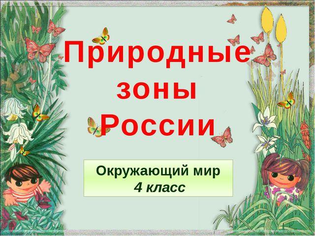 Природные зоны России Окружающий мир 4 класс