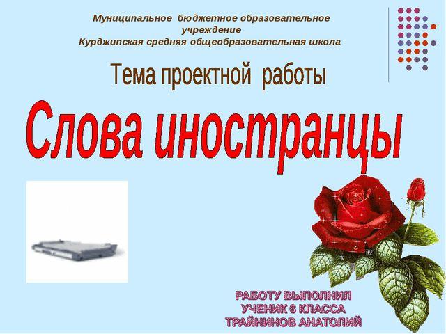 Муниципальное бюджетное образовательное учреждение Курджипская средняя общеоб...