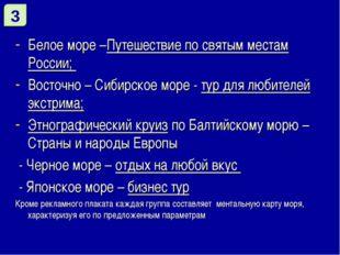 Белое море –Путешествие по святым местам России; Восточно – Сибирское море -