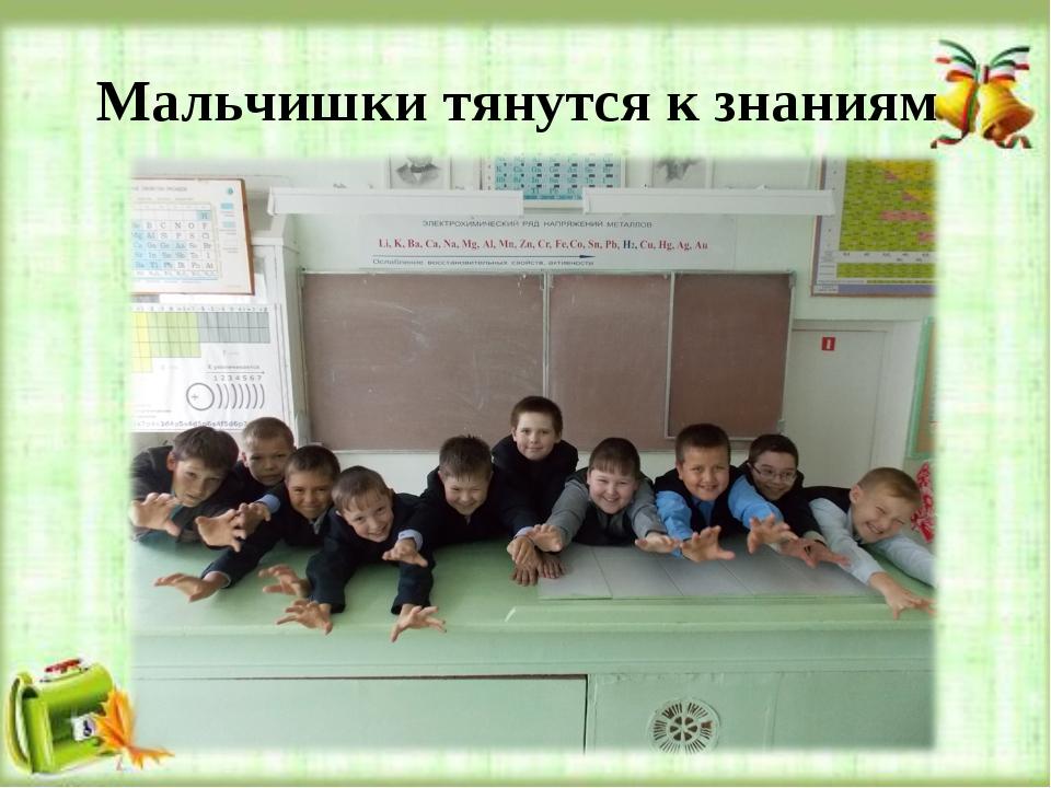 Мальчишки тянутся к знаниям