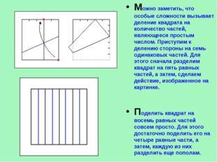Можно заметить, что особые сложности вызывает деление квадрата на количество