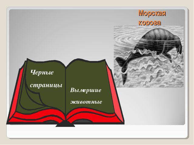 Морская корова Черные страницы Вымершие животные