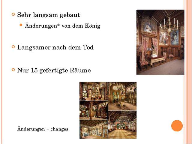 Sehr langsam gebaut Änderungen* von dem König Langsamer nach dem Tod Nur 15 g...