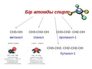 СН3-ОН СН3-СН2-ОН СН3-СН2- СН2-ОН метанол этанол  пр