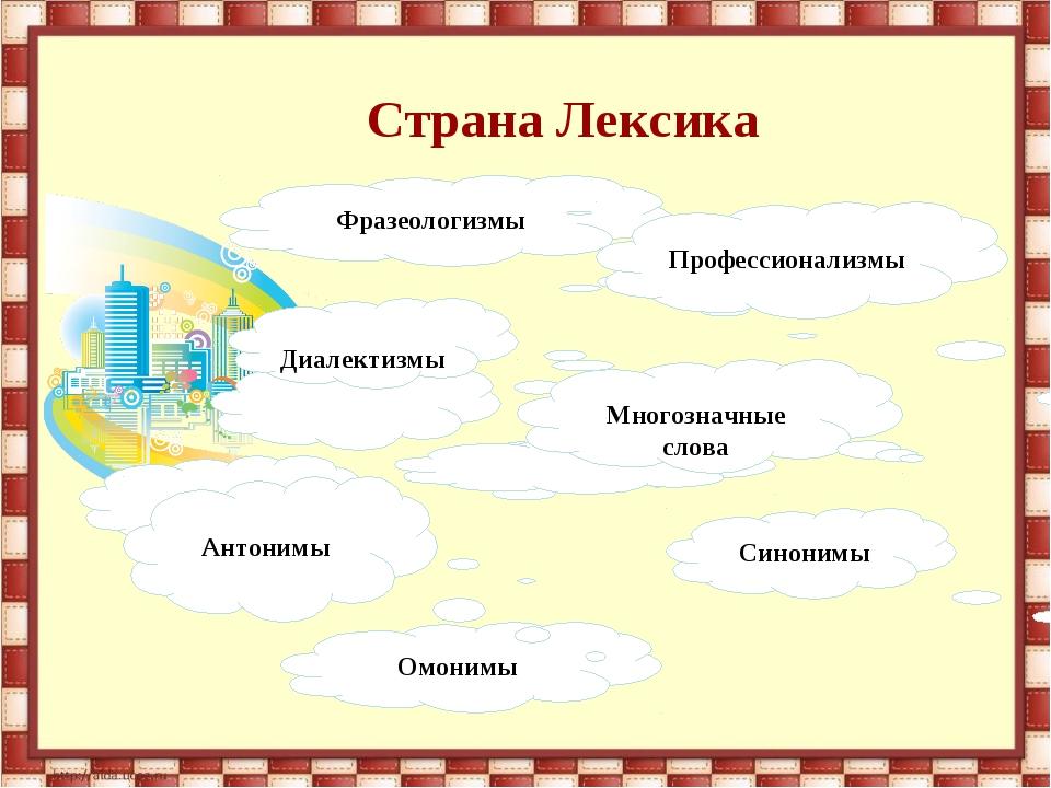 Омонимы Синонимы Фразеологизмы Профессионализмы Диалектизмы Антонимы Многозна...