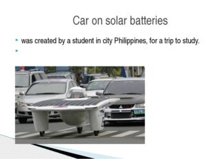 was created by a student in city Philippines, for a trip to study. Car on sol