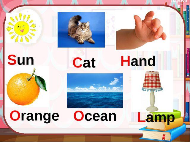 Cat Sun Hand Orange Ocean Lamp bayovan