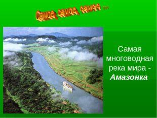 Самая многоводная река мира - Амазонка