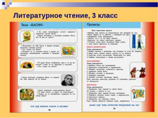Литературное чтение, 3 класс