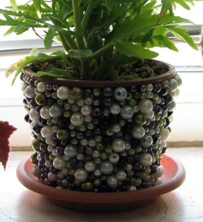 Декор цветочных вазонов
