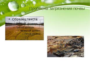 Проблема загрязнения почвы