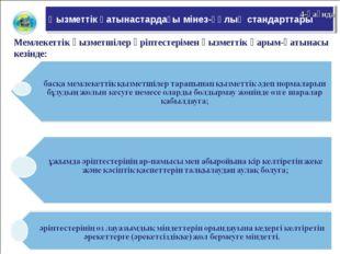 Қызметтік қатынастардағы мінез-құлық стандарттары 4-қағида Мемлекеттік қызмет