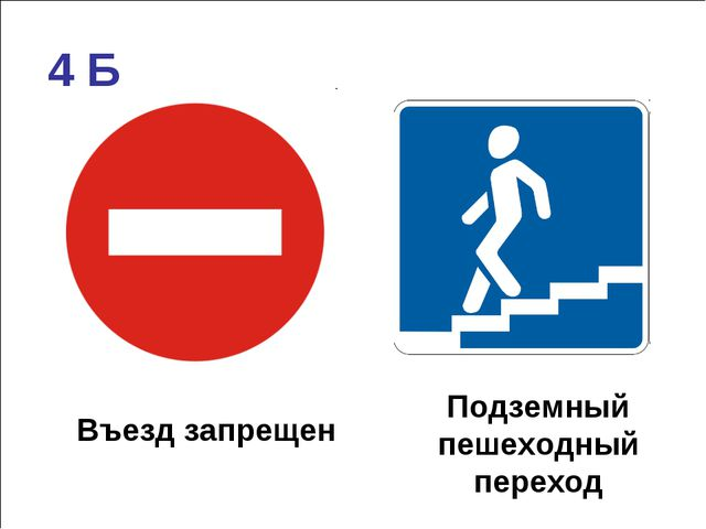 Въезд запрещен Подземный пешеходный переход 4 Б