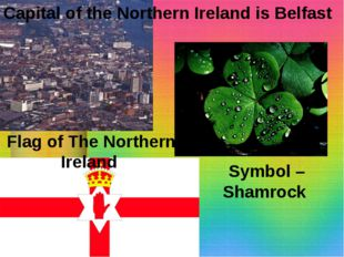 Capital of the Northern Ireland is Belfast Symbol – Shamrock Flag of The Nort