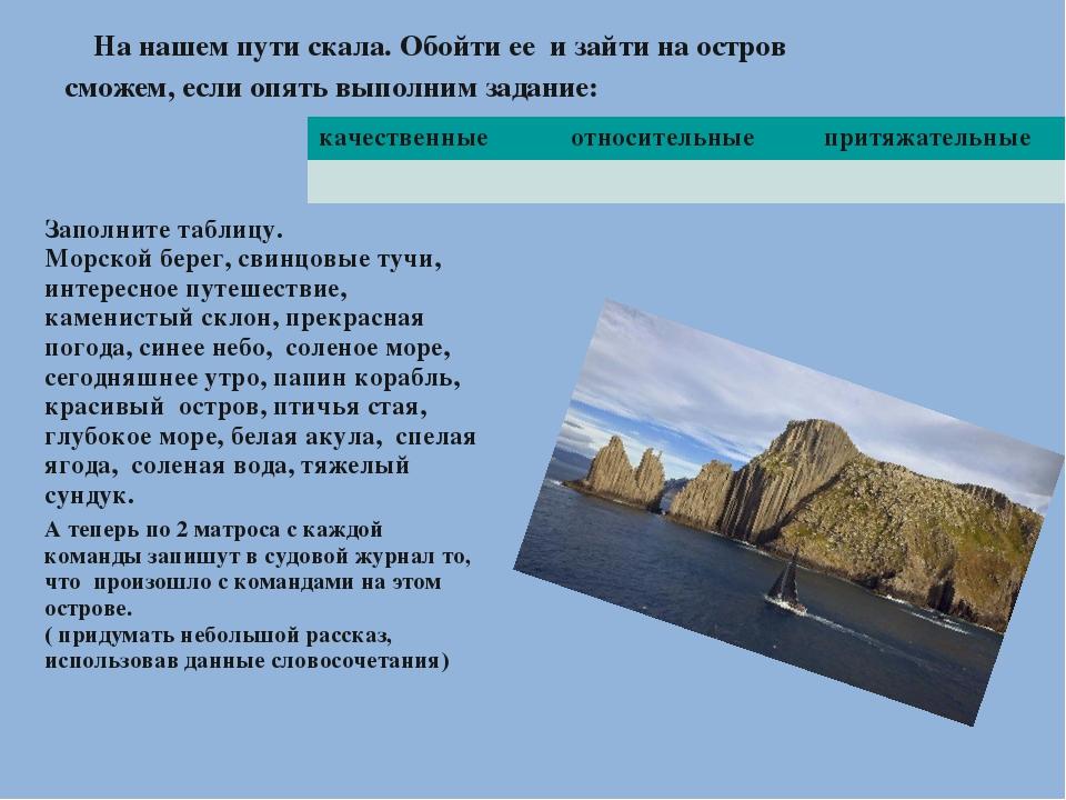 На нашем пути скала. Обойти ее и зайти на остров сможем, если опять выполним...