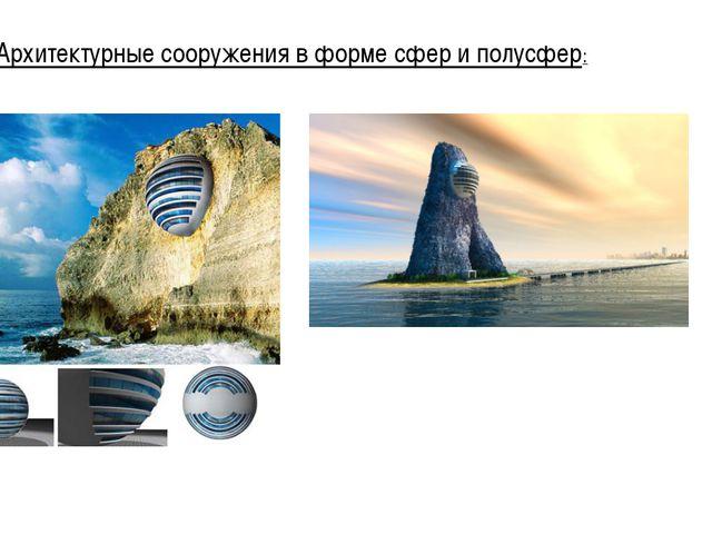 Архитектурные сооружения в форме сфер и полусфер: