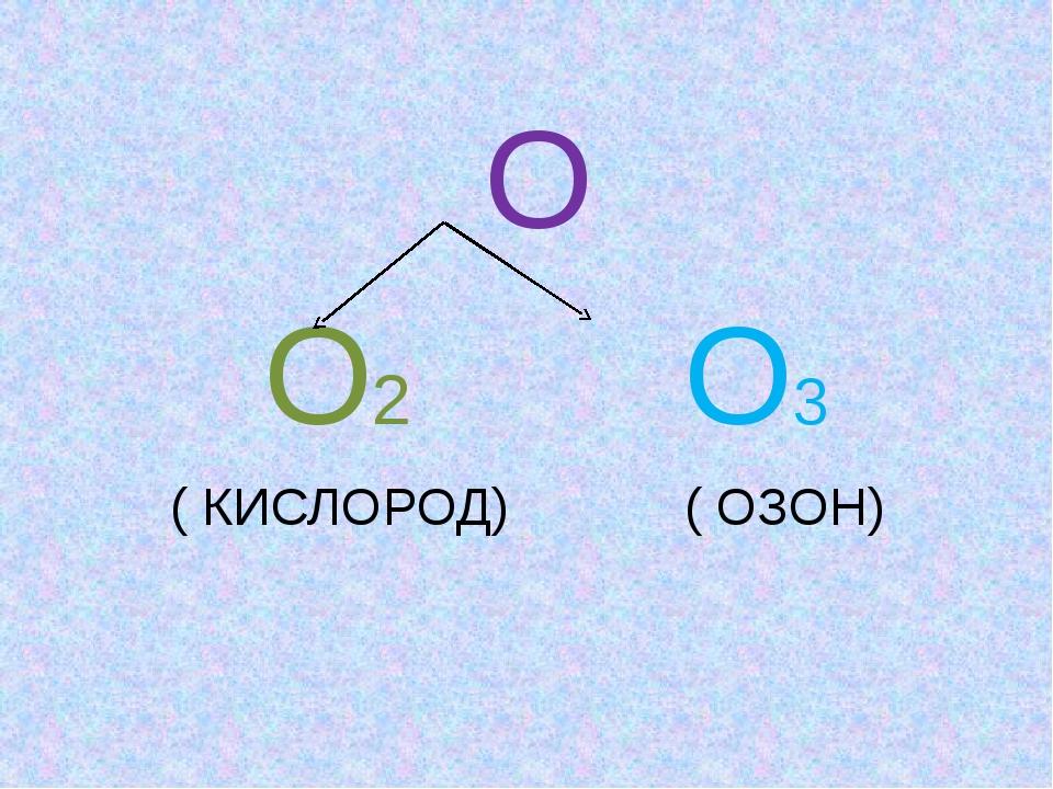 О О2 О3 ( КИСЛОРОД) ( ОЗОН)