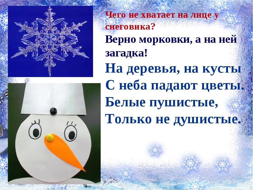 Чего не хватает на лице у снеговика? Верно морковки, а на ней загадка! На де...