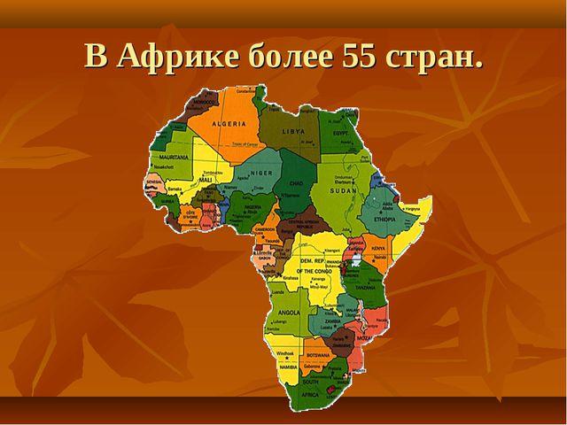 В Африке более 55 стран.