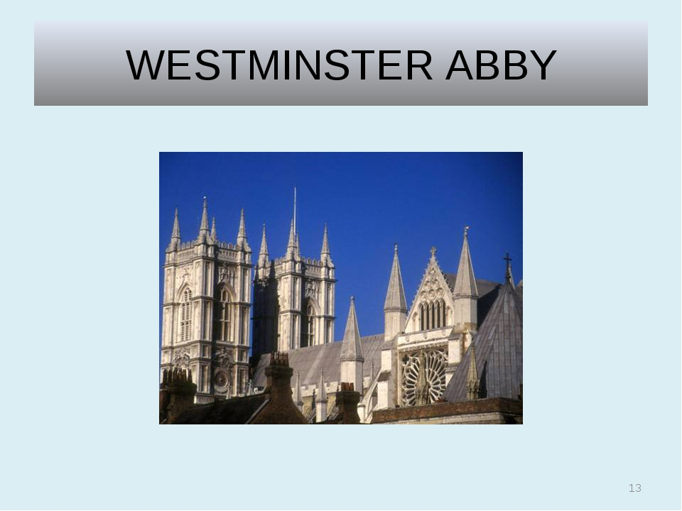 WESTMINSTER ABBY *