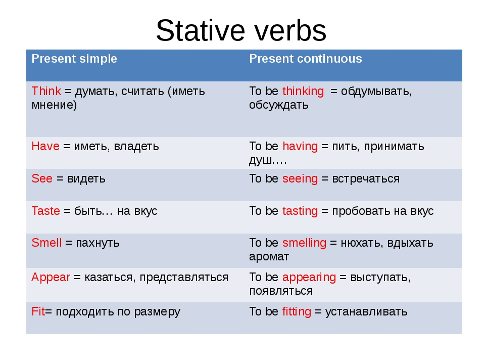 present simple or present continuous sometimes stative verbs
