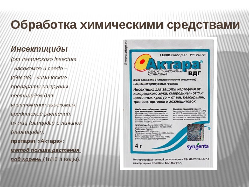 Обработка химическими средствами Инсектициды (от латинского insectum - насеко...