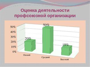 Оценка деятельности профсоюзной организации