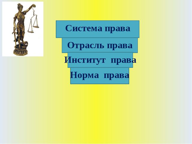 Система права Отрасль права Институт права Норма права