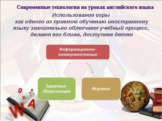 Современные технологии на уроках английского языка Использование игры как одн...