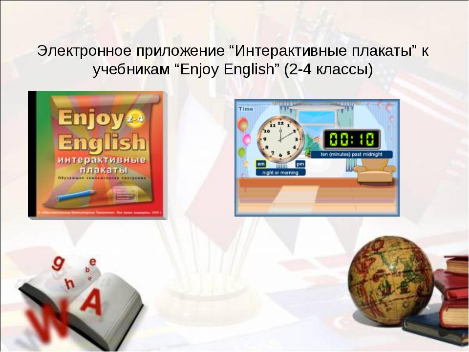 """Электронное приложение """"Интерактивные плакаты"""" к учебникам """"Enjoy English"""" (2..."""