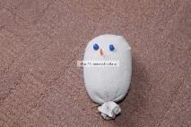 Снеговик из носка пошагово