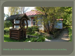 Между флигелем и домом Чеховых располагается колодец.